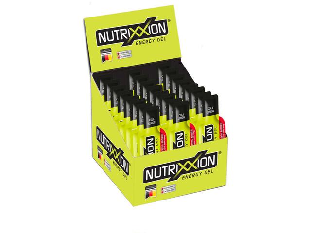Nutrixxion Sachets Gels énergétiques Avec caféine 24 x 44g, Cola Lemon